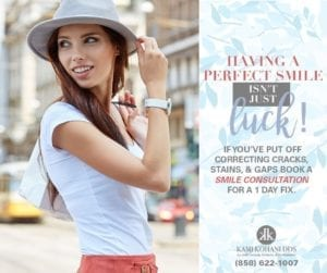 If you've put off correcting cracks, stains, & gaps book a smile consultation for a 1 day fix